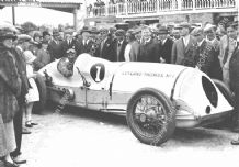 Leyland Thomas Special. Parry Thomas  Brooklands paddock 1926